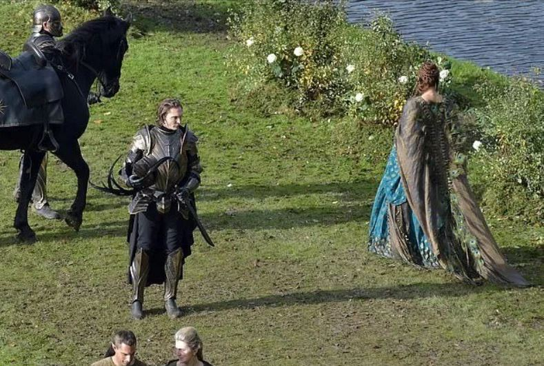 New pictures from The Witcher set Close ups of the Nilfgaardian armor Francesca s dress and dsfg zv more