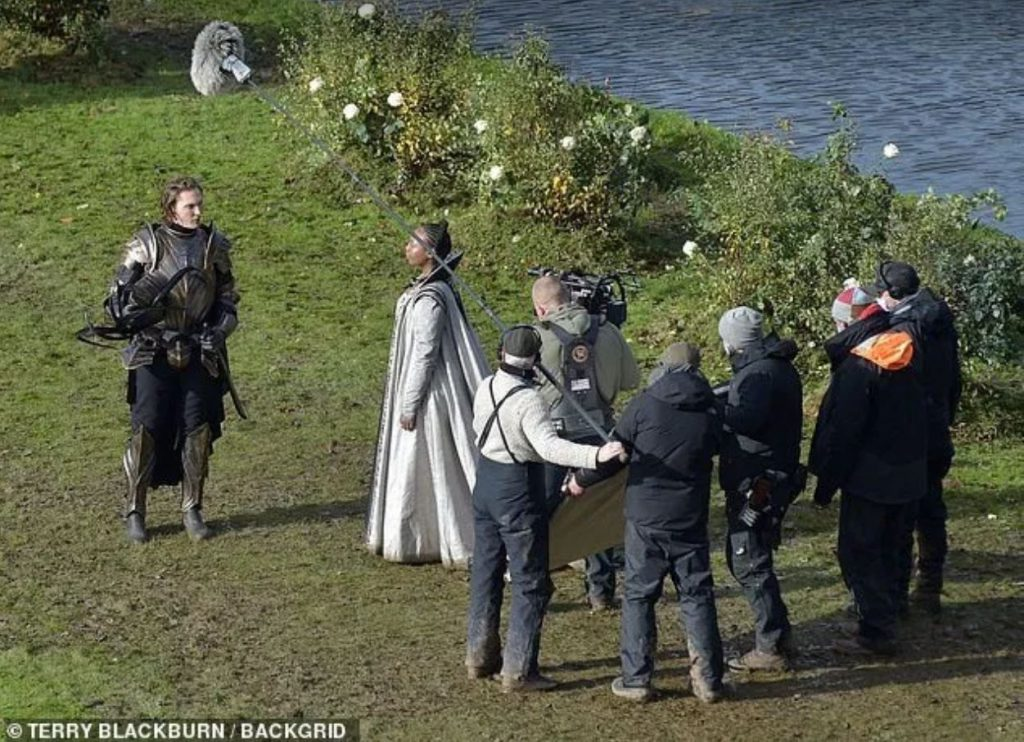 New pictures from The Witcher set Close ups of the Nilfgaardian armor Francesca s dress and f jtf hmore